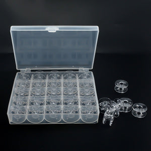 Empty Bobbins Spools Plastic Storage Box For Home Sewing Accessories Tools