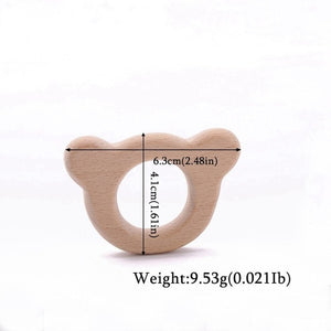 1pc Wooden Teether Wood Pendant For Pacifier Chain Baby Products Animal Wooden Blank Rodent Baby