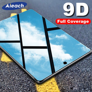 9D Curved Edge Screen Protector Glass For iPad 10.2 mini 5 4 Air 3 2 1 Tempered Glass Film For iPad Pro 11 10.5 9.7 2017 2018