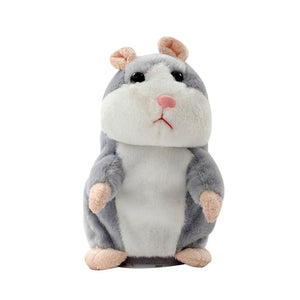 Talking Hamster Mouse Pet Christmas Toy Speak Talking Sound Record Hamster Educational Plush Toy for