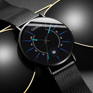 Relogio Masculino 2020 Fashion Mens Business Minimalist Watches Luxury Ultra Thin Stainless Steel