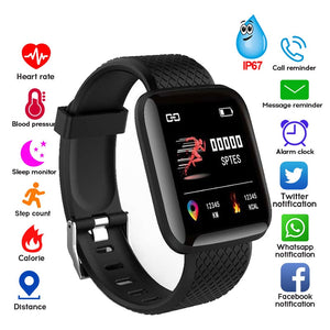 Smart Bracelet Blood Pressure Measurement Waterproof Fitness Tracker Watch Heart Rate Monitor