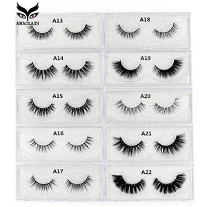 AMAOLASH Eyelashes 3D Mink Lashes Long Lasting Mink Eyelashes Natural Volume Eyelash Extension False
