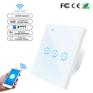 WiFi Roller Shutter Switch WiFi Curtain Blinds Touch Switch Control Garage Door by Alexa Google Home