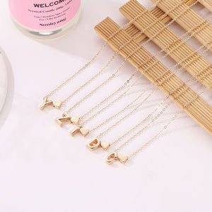 SUMENG Fashion Tiny Heart Dainty Initial Personalized Letter Name Choker Necklace For Women