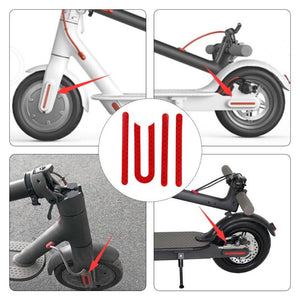 Front Rear Wheel Cover Protective Shell Reflective Sticker for Xiaomi Mijia M365 Electric Scooter