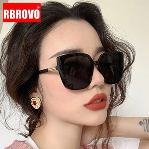 RBROVO Cateye Designer Sunglasses Women High Quality Retro Sunglasses Women Square Glasses Women/Men Luxury Oculos De Sol