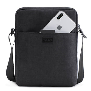 TINYAT Men's Bags Light Canvas Shoulder Bag For 7.9' Ipad Casual Crossbody Bags Waterproof