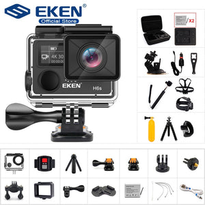 Original EKEN H6S Ultra HD Action Camera with Ambarella A12 chip 4k/30fps 1080p/60fps EIS 30M