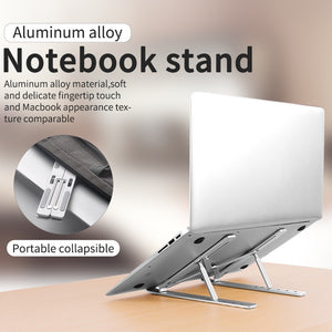 Aluminum Alloy Adjustable Laptop Stand Folding Portable for Notebook MacBook Computer Bracket Lifting Cooling Holder Non-slip