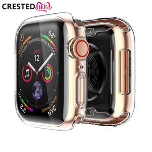 Soft cover case For Apple Watch band apple watch 4 3 5 case 42mm/38mm/44mm 40mm iwatch band