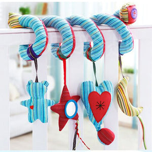 Soft Baby Toys 0-12 Months music Crib Stroller Hanging Spiral kids sensory Educational Toy For
