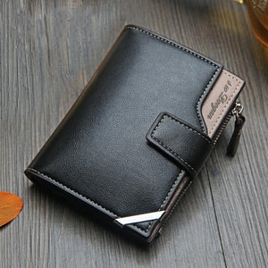 New Business men's wallet Short vertical Male Coin Purse casual multi-function card Holders bag