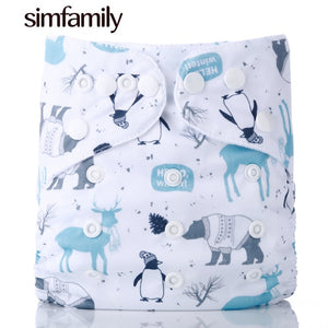 [simfamily]1PC Reusable Waterproof digital printed baby Cloth Diaper One Size Pocket baby nappies