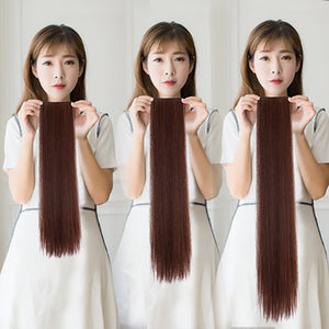 2 Clip In Hair Extensions Synthetic 1 Piece 4 Colors Long Straight Clip On High Temperature Fiber