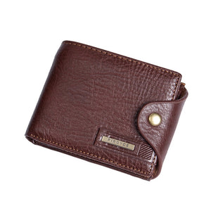 new small wallets men wallets short men's wallet Genuine leather guarantee purse for male coin purse
