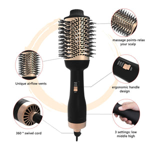 One Step Hair Dryer Brush and Volumizer Blow straightener and curler salon 2 in 1 roller Electric