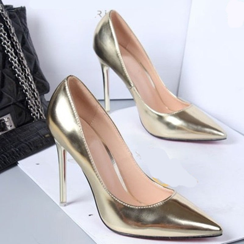 ff0dd8b01012 ZOGEER Hot Spring Autumn Women Pumps Sexy Gold Silver High Heels Shoes  Fashion Pointed Toe Wedding