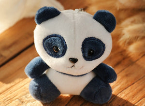 4colors, panda 12cm approx. plush stuffed doll toy