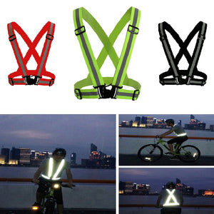 Reflective Vest High Visibility Unisex Outdoor Running Cycling Safety Vest Adjustable Elastic Strap Fluorescence Work
