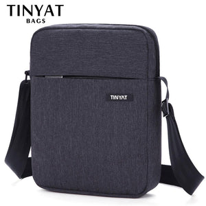 TINYAT Men's Bags Shockproof Men Shoulder bags for 9.7' pad Travel Crossbody bags Canvas men's Buiness Shoulder Bag Waterproof