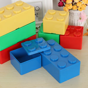 1pc Creative Storage Box Vanzlife Building Block Shapes Plastic Saving Space Box Superimposed