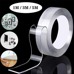 3m Double Sided Tape Washable Reuse Nano Magic Tape Transparent No Trace Waterproof Adhesive Tape