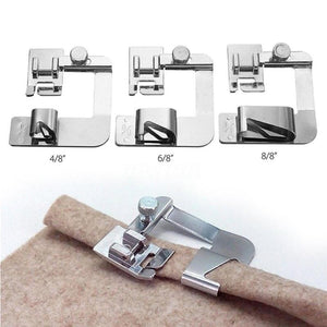 13-25 cm Domestic Sewing Machine Foot Presser Rolled Hem Feet Set for Brother Singer Sewing