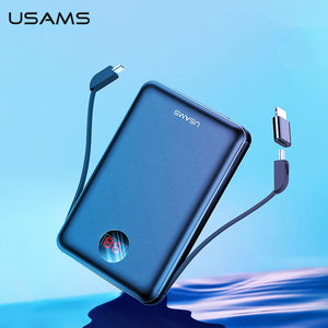 USAMS Power Bank LED Display Mini Powerbank External Battery Poverbank Charging Pover bank with