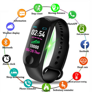 Rovtop M3 Plus Bluetooth Smart Watch Heart Rate Blood Pressure Health Waterproof Watch M3 Pro