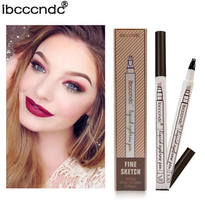 Microblading Eyebrow Tattoo Pen Fine Sketch Liquid Eyebrow Pen Waterproof Tattoo Eye Brow Pencil