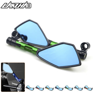 For Kawasaki Z900 Z900RS Z800 Z1000 Motorcycle Accessories CNC Aluminum Rear View Mirrors Blue Glass Green Black Gold Red Orange