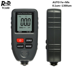 R&D TC100 Coating Thickness Gauge 0.1micron/0-1300 Car Paint Film Thickness Tester Measuring