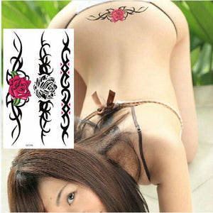 Watercolor Flower Temporary Body Tattoo so Beautiful can be used for Shoulder,thigh, or Back Body