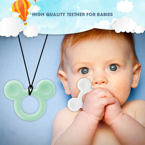 TYRY.HU 1Pcs Baby Teether Animal Koala Elephant Rabbit Owl Food Grade Silicone Baby Teething Necklace Toys DIY Childen's Gifts