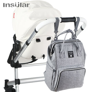 Insular Brand Nappy Backpack Bag Mummy Large Capacity Stroller Bag Mom Baby Multi-function
