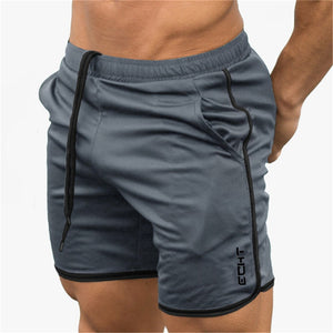 GITF mens gym fitness shorts Bodybuilding jogging workout male short pants sport Run Breathable