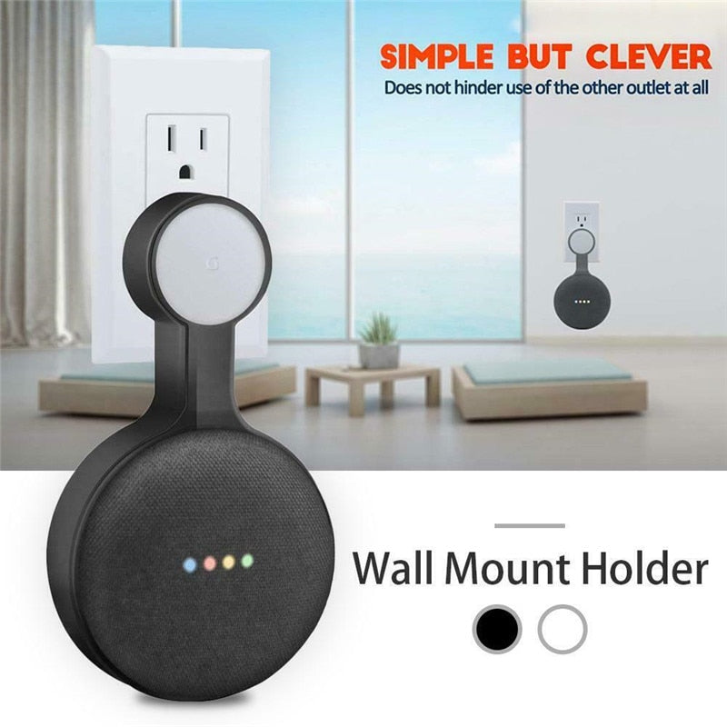 For Google Mini Voice Assistants Wall Outlet Mount Holder Hanger Stand Grip Cute