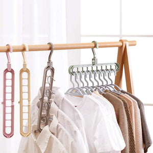 Clothes coat hanger organizer Multi-port Support baby Clothes Drying Racks Plastic Scarf cabide