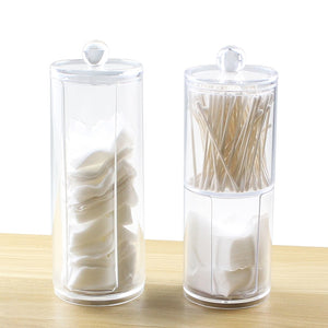 Makeup Cotton Pad/Swab Organizer Jewelry Storage Box Multifunctional Round Qtip Container Cosmetic