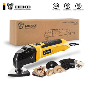 DEKO 220V Variable Speed Electric Multifunction Oscillating Tool Kit Multi-Tool Power Tool