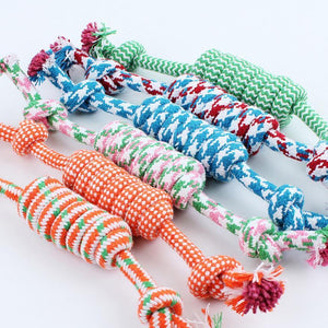 1 Pcs 27CM Dog Toys Funny Cotton Rope Toys For Small Puppy Dogs Pet Chew Toys Pet Supplies Random