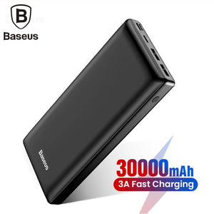 Baseus Big Capacity 30000mah Power bank For Mobile Phone Powerbank Quick Charge 3.0 Type C Phone