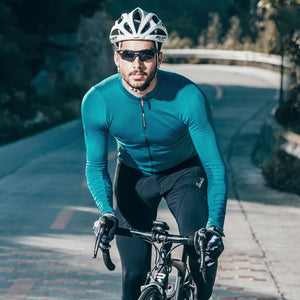Santic Mens Long Sleeve Cycling Jerseys Fit Comfortable Sun-protective Road Bike MTB Top Jersey