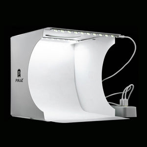 Photography Photo Studio Softbox 2 Panel LED Light Soft Box Photo Background Kit Light box