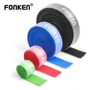 FONKEN Cable Organizer USB Cable Winder 3m 5m Mouse Ties Earphone Phone Data Wire Free Clip