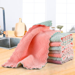 Super Absorbent Microfiber kitchen dish Cloth Highefficiency tableware Household Cleaning Towel kichen tools gadgets cosina
