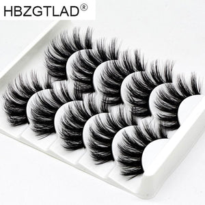 HBZGTLAD Mix 5pairs natural false eyelashes fake lashes long makeup 3d mink lashes eyelash extension