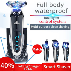 Electric Shaver Rechargeable Full Body Washing Intelligent Digital Display Shaver Multifunctional