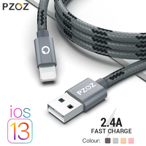 PZOZ usb cable for iphone cable 11 pro max Xs Xr X 8 7 6 plus 6s 5 s plus ipad mini 4 fast